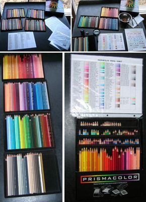 'Organization of Prismacolor Coloured Pencils...!' (via JJ ColourArt)