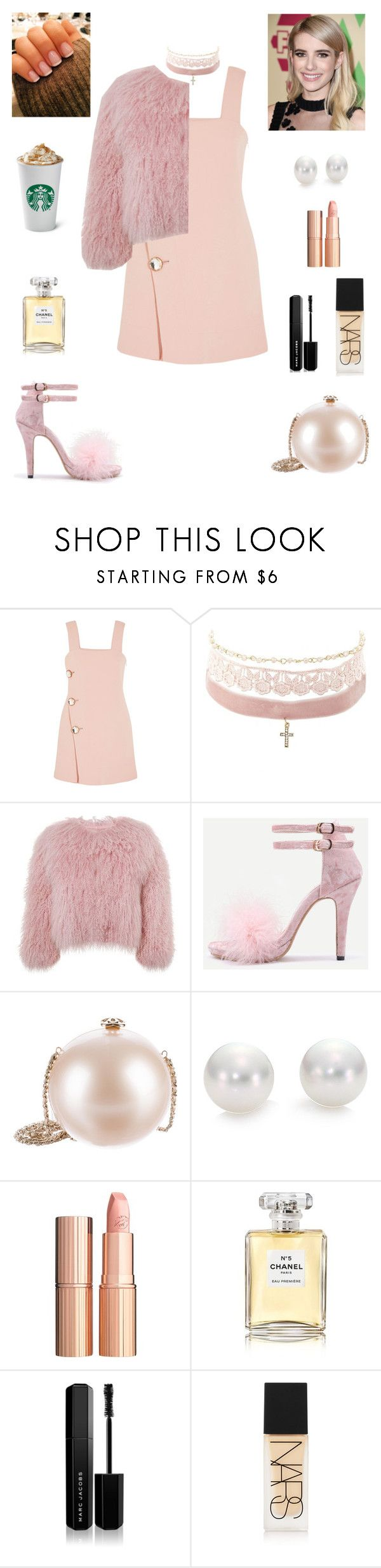 """""""Scream queens #2"""" by leah93-1 ❤ liked on Polyvore featuring Marni, Charlotte Russe, Charlotte Simone, Chanel, Mikimoto, Charlotte Tilbury, Marc Jacobs and NARS Cosmetics"""