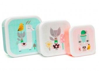 lunchbox set Suzy Ultman 'lama & friends'