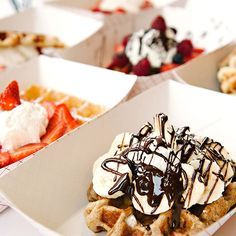 Bruges Waffles, SLC - the Belgium Liege waffle