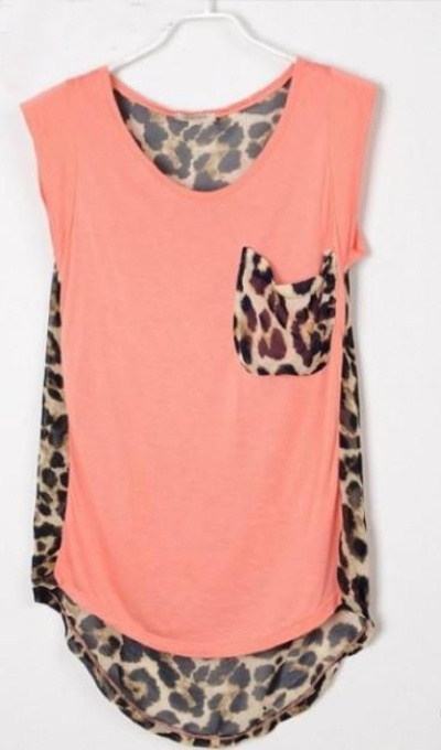 leopard/coral my two favorite things!!!!: High Low Sleeveless, Leopard Print, Pink Blouses, Patchwork High Low, Style, Dream Closet, Sleeveless Pink
