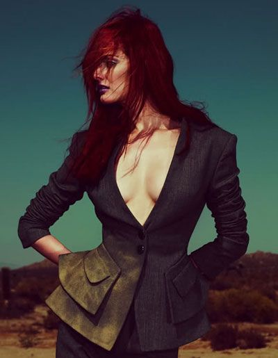 Lydia Hearst - Red Hair- I love the idea of a style made from colors that aren't natural.