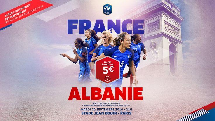 Nos Bleues sont déjà tournées vers l'Euro 2017 et affronteront l'Albanie le mardi 20 septembre avec l'ambition de s'affirmer comme un prétendant sérieux au titre en fin de saison !  � Stade Jean-Bouin, Paris � Réservez vos places sur notre site internet : http://po.st/cVjesr