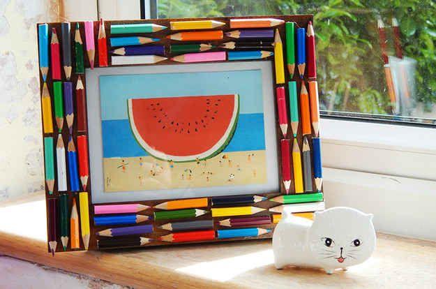 Marco de lápices de colores
