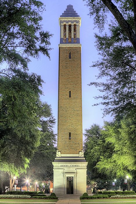 Denny Chimes,University of Alabama,University of Alabama Denny Chimes,Tuscaloosa,Tuscaloosa AL,Tuscaloosa Alabama,Alabama icons,JC Findley,University of Alabama Tower,Bell tower,