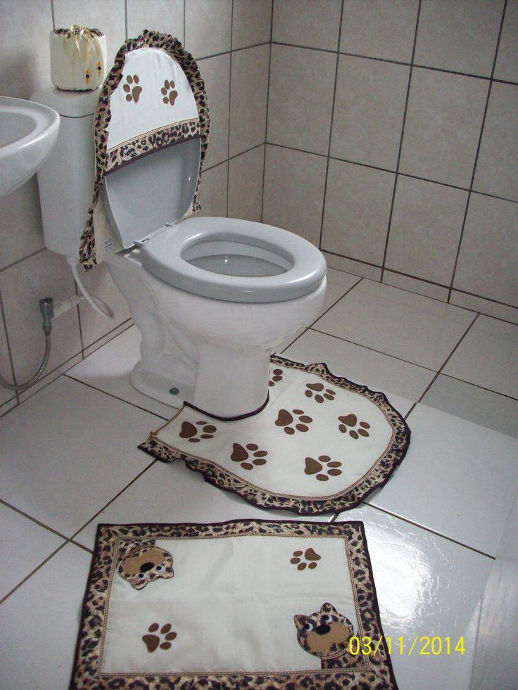 jogo banheiro gatos patchwork passo a passo - Pesquisa Google