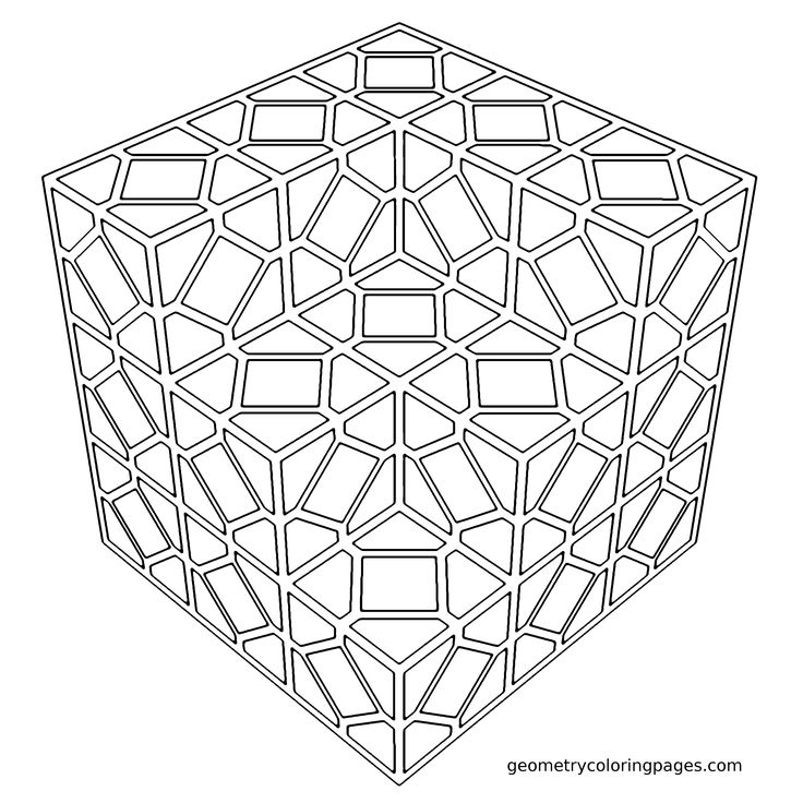 Coloring Page Tiled from geometrycoloringpages