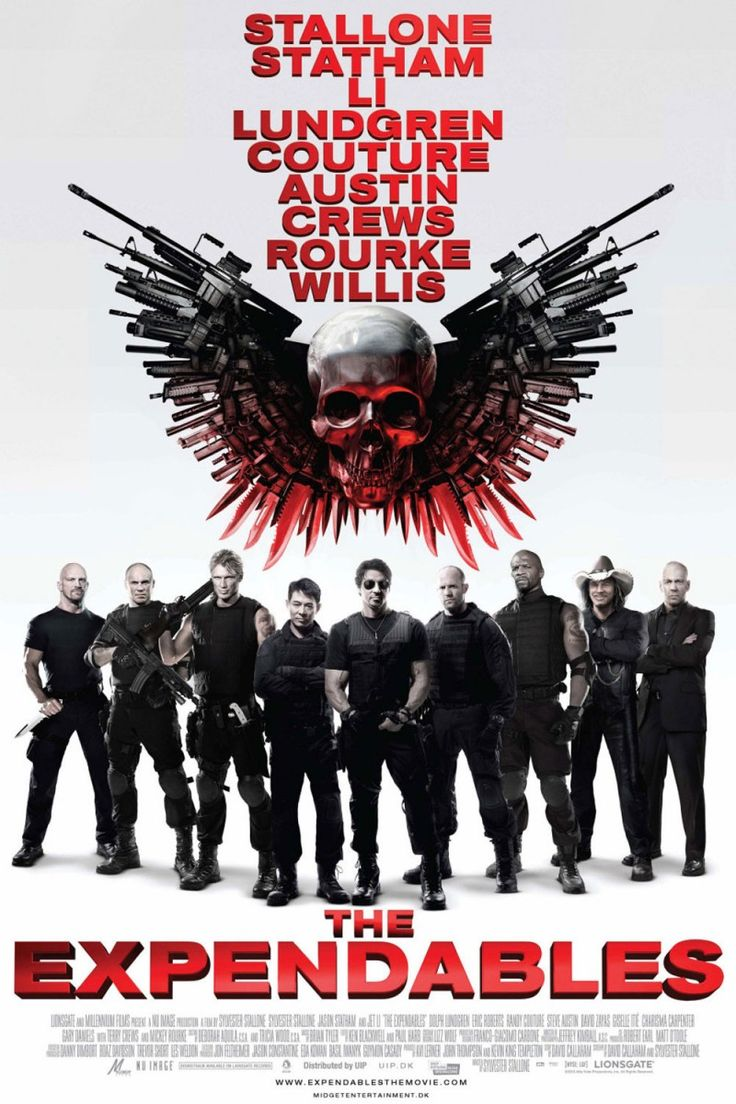 Expendables - I loved seeing all the action heroes from back in the day together kicking butt! One of my all-time favorite action movies.