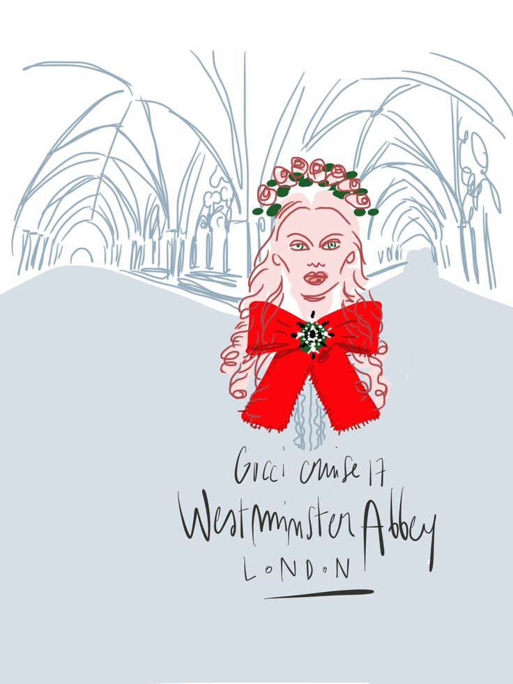 Alessandro Michele's Gucci cruise 17 show run at Westminster Abbey, London.