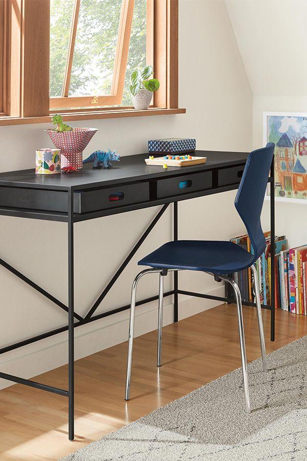 Slim Desks In Natural Steel Modern Desks Tables Modern Office Furniture Room Board Modern Desk Home Decor Modern Kitchen Curtains