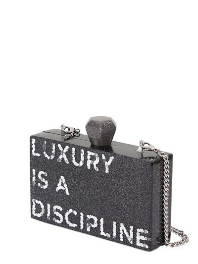 KARL LAGERFELD - K LUXURY IS A DISCIPLINE PERSPEX CLUTCH - LUISAVIAROMA - LUXURY SHOPPING WORLDWIDE SHIPPING - FLORENCE