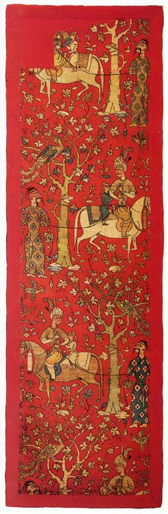 Fabric, Iran. 16th century. Woven silk.  The Museum of Oriental Art, Moscow