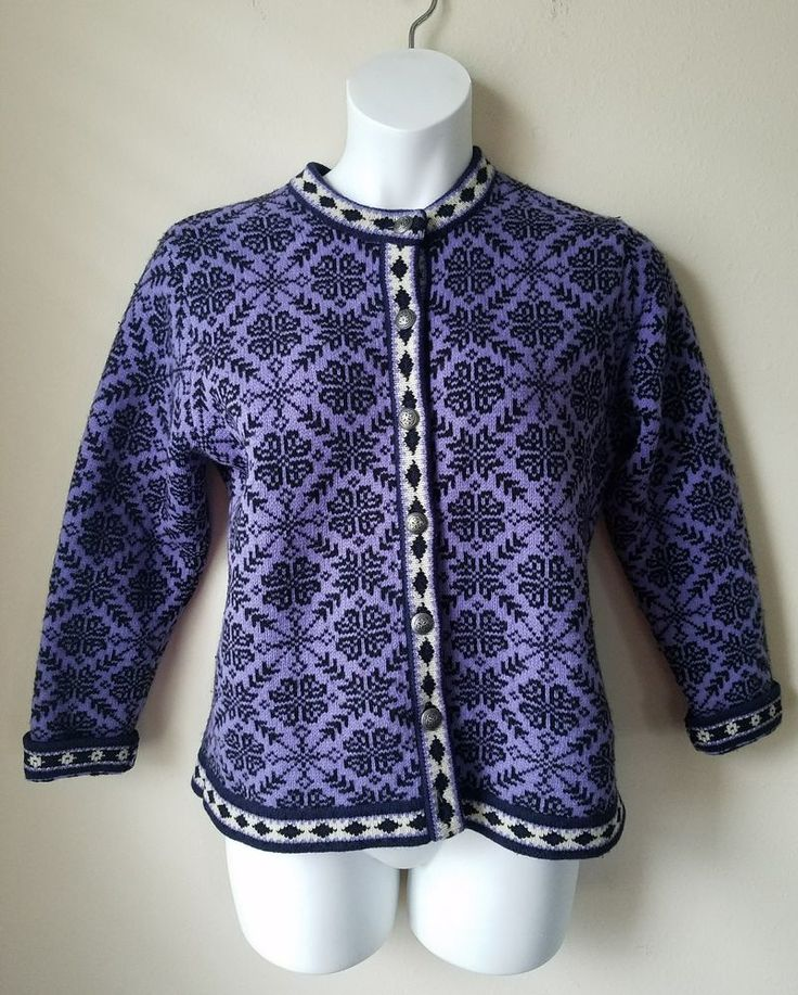 LL Bean Womens 100% Merino Lambs Wool Holiday Sweater - sz L - Purple | Clothing, Shoes & Accessories, Women's Clothing, Sweaters | eBay!