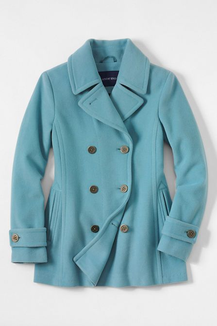 Women's Luxe Wool Peacoat from Lands' End
