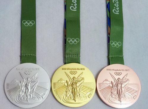 Brazil Rio 2016 Olympic Winners Gold Medal With Ribbon Souvenir (Perfect Gift)