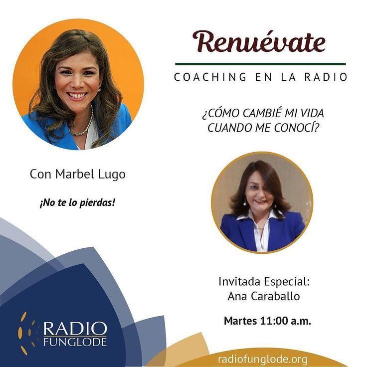 HOY Martes 11am RENUEVATE COACHING EN LA RADIO...estamos online por la aplicación Tune In desde tu celular o por http://ift.tt/1Abi79t o por http://ift.tt/1F8bzd1.  Marbel Lugo  No te lo pierdas! Puedes escuchar  los programas anteriores en http://ift.tt/2iZl08I Síguenos en las redes: Instagram/Facebook- Marbellugo #renuevate