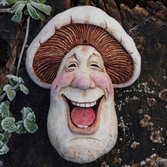 Artie (Artimus Campestris) - Field Mushroom, Fantasy Sculpture Wall Art, Quirky handmade  Art piece, Collectable,Decorative Character