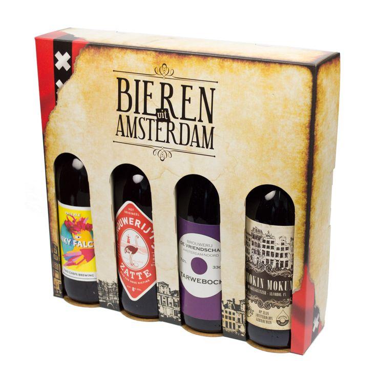 Bieren uit Amsterdam. In deze verpakking komen smaakvolle, ambachtelijke bieren afkomstig van Amsterdamse brouwerijen. De verpakking is tweetalig en daardoor ook voor toerisme uitermate geschikt. De invulling varieert, maar de eerste editie bevat: Funky Falcon (Two Chefs), Zatte (Brouwerij 't IJ), Tarwebock (de Vriendschap) en Smokin Mokum (collaboration De Prael en Pampus).