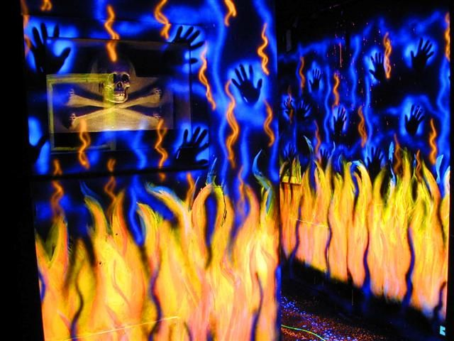 Lost Souls In A Sea Of Fire Different Colors Of Luminescent Black