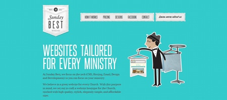 Sunday Best - web design