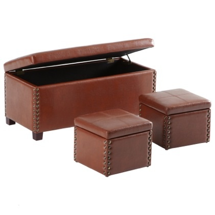 hendrickson furniture. the hendrickson ottoman in saddle brown faux leather furniture