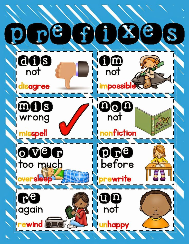 Prefixes and Suffixes - Enchanted Learning