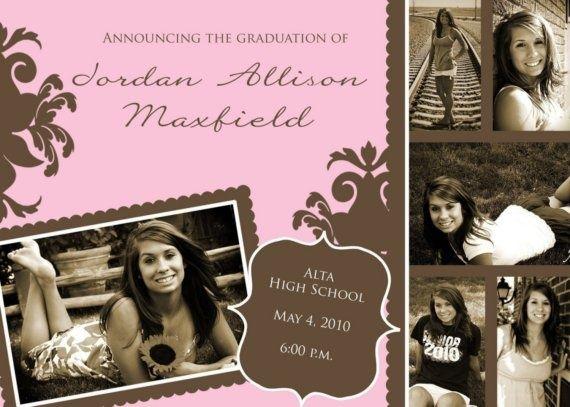 best images about high school graduation announcements, invitation samples