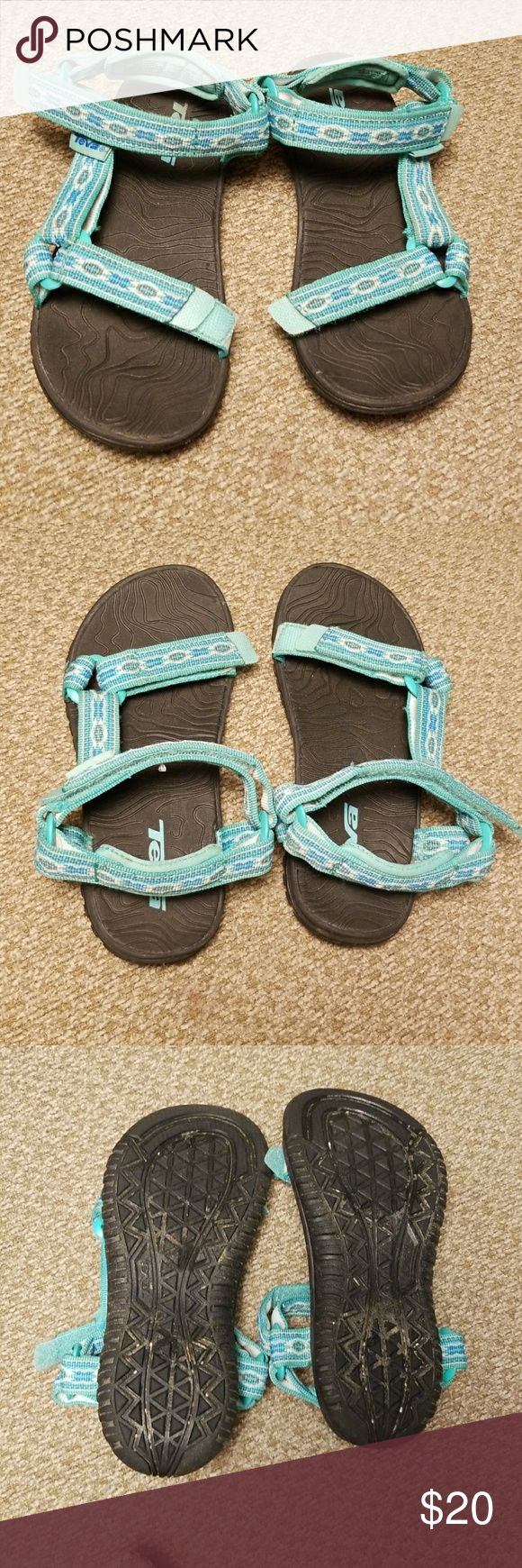 Kids Teva Hurricane 3 size 13 (toddler) Good used condition. Color/style is Monteray Florida Keys. Size 13. Excellent shoe to pack on vacation, or every day summer wear. Nice teal color can be a boys or girls sandal Teva Shoes Sandals & Flip Flops