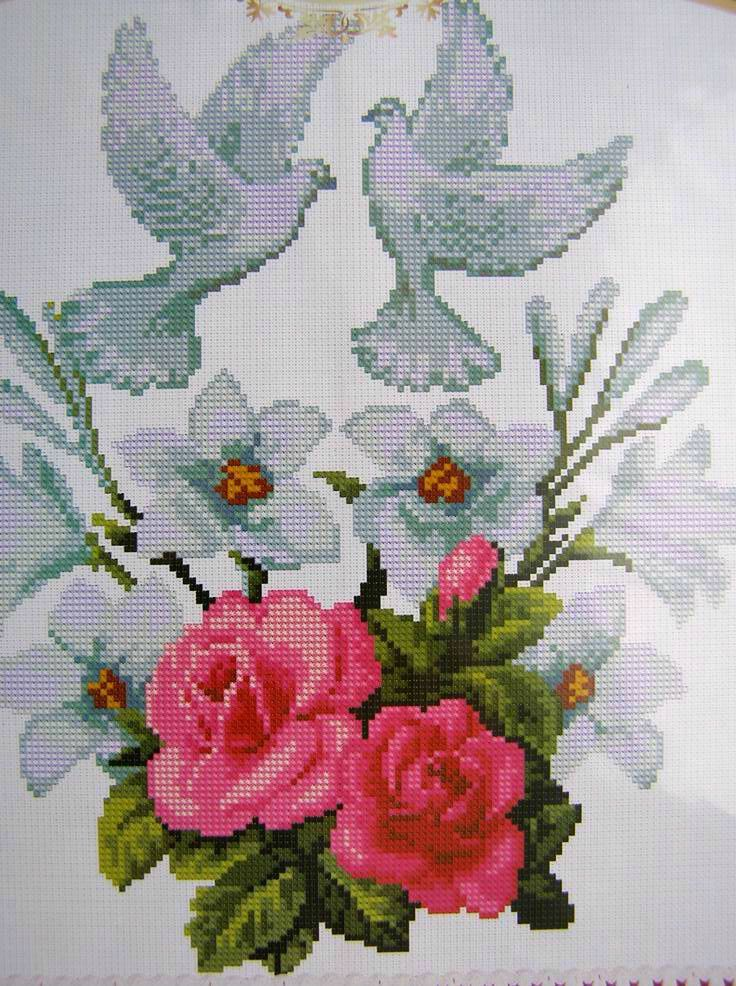 Cross stitch Embroidery Pattern Ukrainian Wedding Towel 13