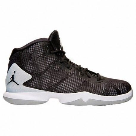 Men's Air Jordan Super.Fly 4 Basketball Shoes Black/Black/Wolf Grey/Infrared  23 768929 007