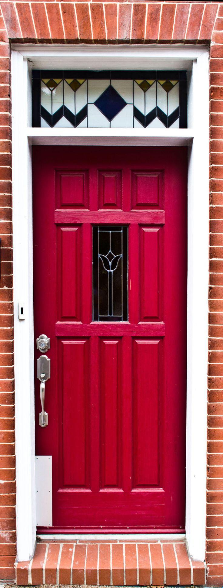 Red Doors Front Doors Grand Entrance Portal