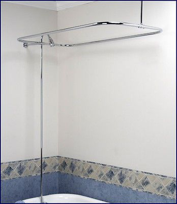 Clawfoot Tub Shower Diverter Faucet Amp Curtain Rod Combo