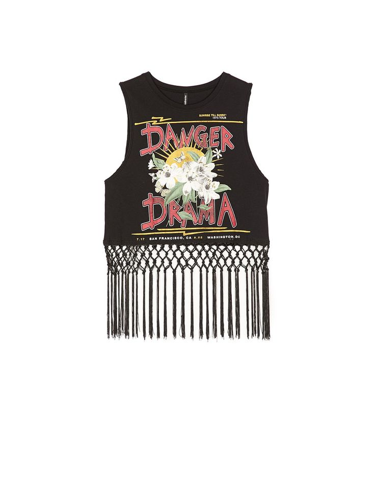 At Stradivarius you'll find 1 Fringe T-shirt for just 15.99 United Kingdom . Visit now to discover this and more T-shirts.