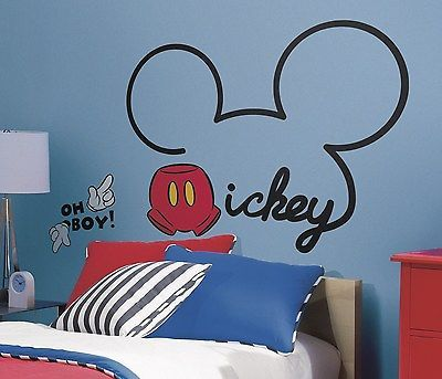 New Giant ALL ABOUT MICKEY MOUSE WALL DECALS Disney Room Stickers Bedroom Decor