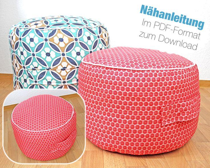 Nähanleitung+Sitzkissen+Bodenkissen+Pouf+nähen+von+DIYlabor+-+Nähanleitungen+&+Schnittmuster+auf+DaWanda.com