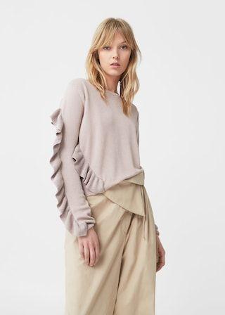 Ruffled sweater -  Woman | MANGO South Africa