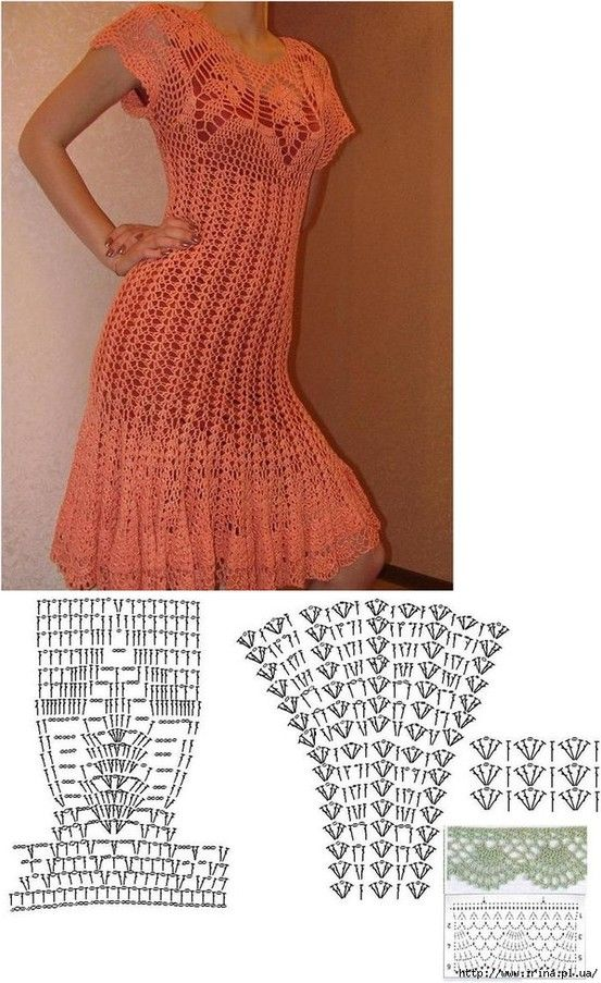 lovely crochet dress!!  - these stitches are quite easy!-- like I'll ever be able to do this, but we shall pin anyway!