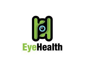 Eye Health Logo design - Logo design of an eye inside a abstract shape of the letter H.  Price $250.00