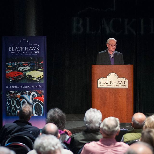 Chris Bock entertained nearly a hundred guests today with a presentation on the history of #PebbleBeach Concours d'Elegance. Chris Bock has served as the Chief Judge since 2013. He attended his first Concours back in 1963 at the young age of 18, he was first appointed a class judge a decade later. #SpeakerSeries #BlackhawkMuseum #Concours #ClassicCars #montereylocals #pebblebeachlocals - posted by Blackhawk Museum https://www.instagram.com/blackhawkmuseum - See more of Pebble Beach at…
