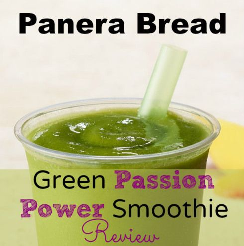 Panera Bread Green Passion Power Smoothie Review - before you buy it check out my review first.