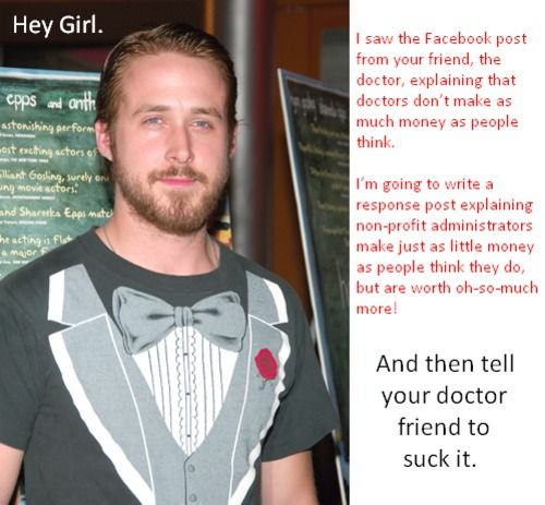 Yep......he just gets it that Ryan Gosling.: Ryan Gosling, Celebrity Fun