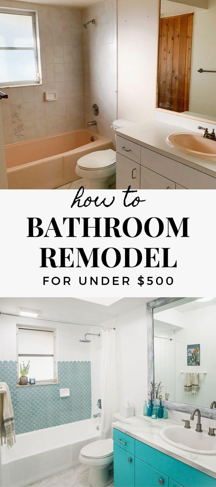 Diy Bathroom Remodel For Under 500 Affordable Bathroom Remodel Simple Bathroom Remodel Cheap Bathroom Remodel