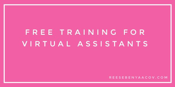 Free training for Virtual Assistants! Read on to learn where to find amazing online training to help you now!