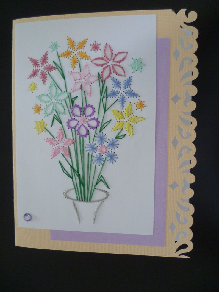 783 Best Images On Pinterest Paper Embroidery String Art