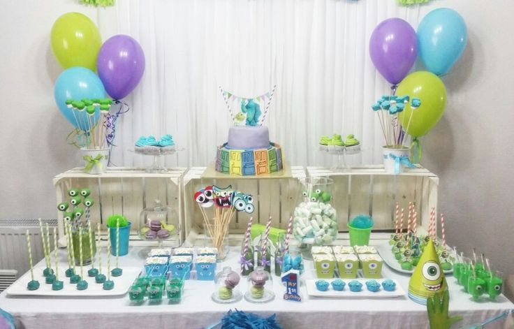 Decorating ideas for monsters inc birthday party