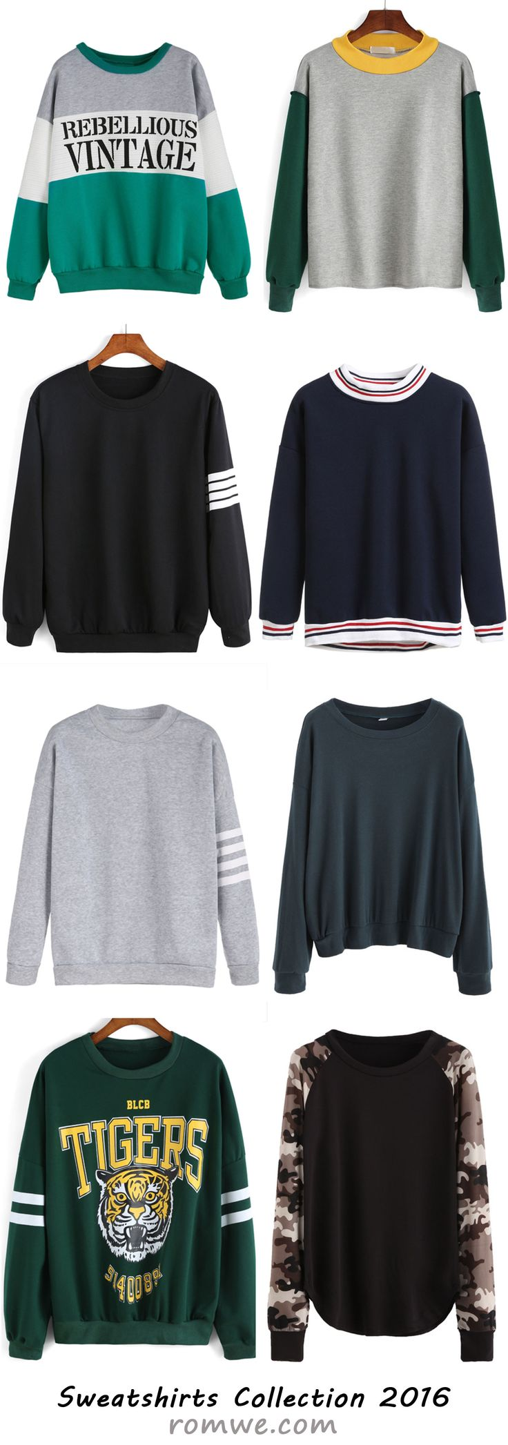 Romwe Sweatshirts Collection 2016