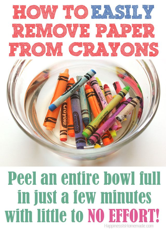 How to easily remove paper wrappers from crayons