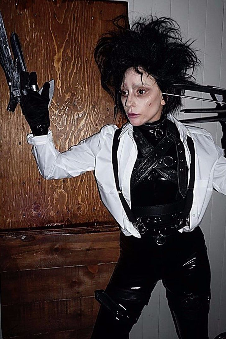 Lady Gaga S Epic Edward Scissorhands Costume Needs To Be Seen To Be Believed With Images Celebrity Costumes Best Celebrity Halloween Costumes Celebrity Halloween Costumes