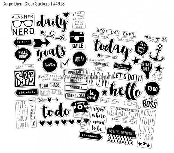Simple Stories Carpe Diem Stickers 4x6 Clear | €4.40