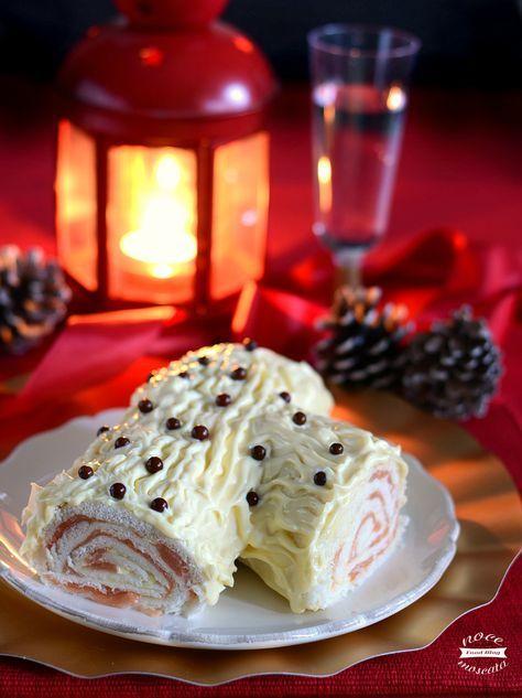 Tronchetto natalizio al salmone